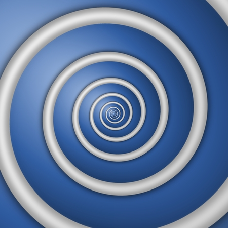rendered: Digital rendered white spiral background on blue background