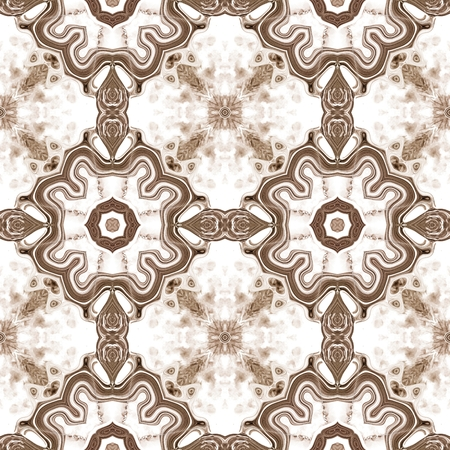 timeless: Seamless kaleidoscope texture or pattern on white background 1