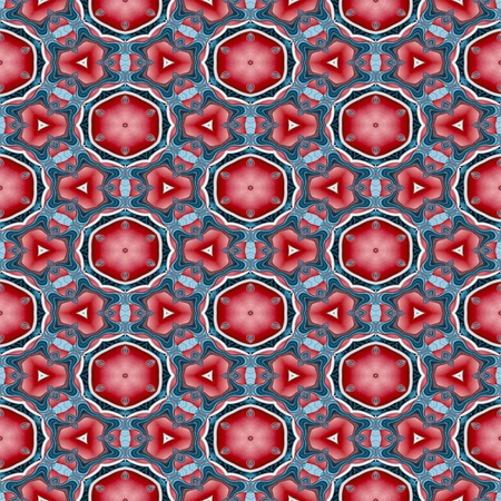 spectrum: Seamless kaleidoscopic pattern in red and blue spectrum 4