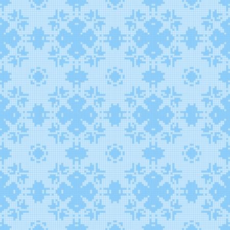 Filet Häkeln Spitzen-Design. Nahtlose Hintergrund In Blauen Spektrum ...