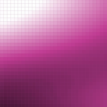 gradation: Pixel mosaic background - gradation from white to fuchsia color