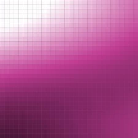 fuchsia: Pixel mosaic background - gradation from white to fuchsia color