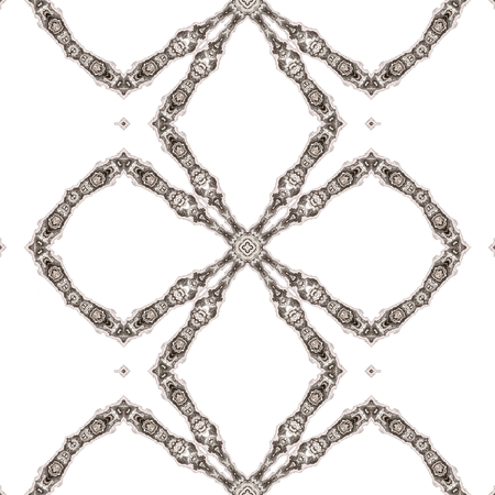 embellished: Seamless kaleidoscope texture or pattern in brown spectrum 5 Stock Photo