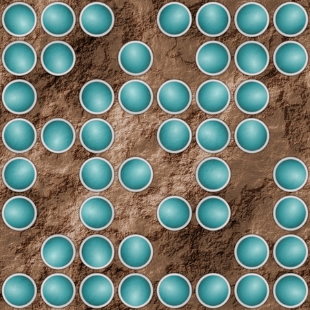 quasi: Abstract brown textured background with turquoise scattered circular elements