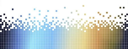 colurful: Abstract colurful mosaic background-pixelated in blue and brown spectrum