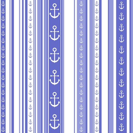pointed arrows: Seamless striped pattern or wallpaper with anchor motif
