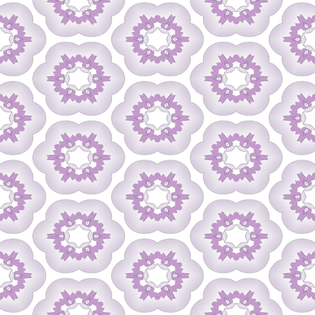 dazzling: Seamless abstract ornate pattern in violet on white background