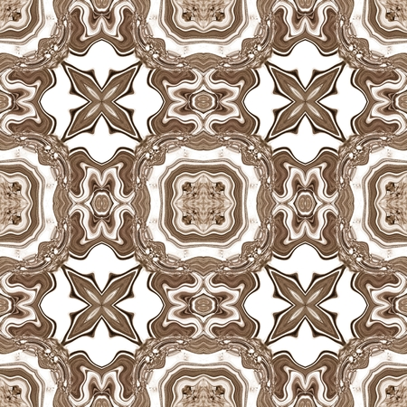 classic contrast: Seamless ornate texture or pattern in brown spectrum