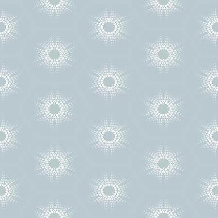 iteration: Seamless pattern with dotted floral ornament