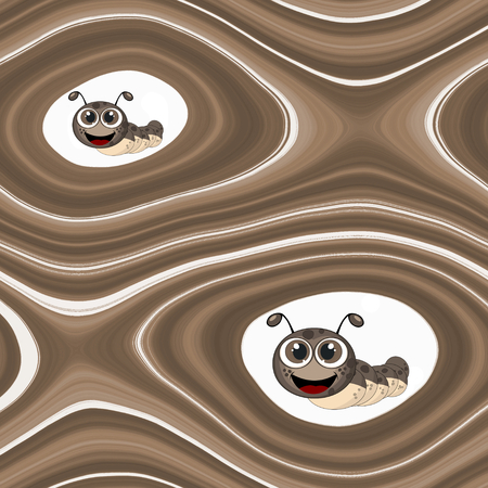 boyish: Abstract background with cartoon caterpillar in brown spectrum