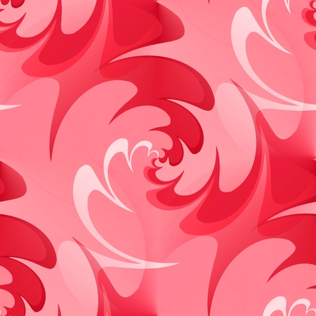 iteration: Seamless wavy background in red spectrum Stock Photo
