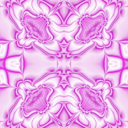 fuchsia: Kaleidoscopic ornate background. Seamless pattern in fuchsia spectrum Stock Photo