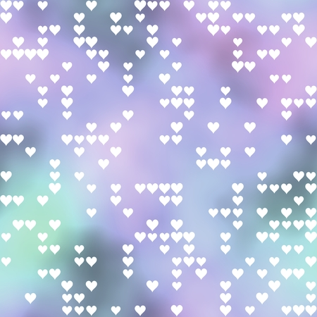 smudgy: Seamless pattern with hearts motif on pastel colored background