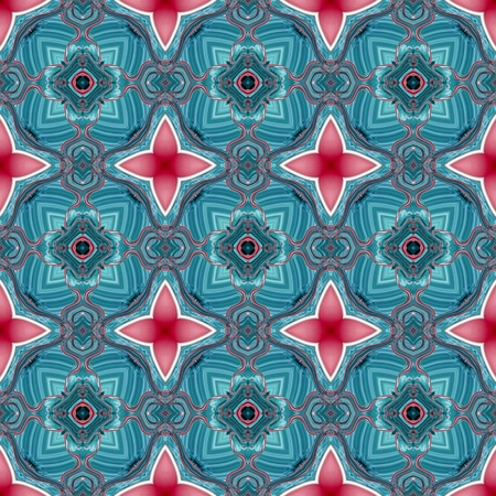 dazzling: Seamless kaleidoscopic pattern in blue and red spectrum 1 Stock Photo