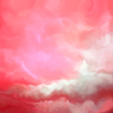 alpenglow: Beautiful abstract sky in red and white spectrum Stock Photo