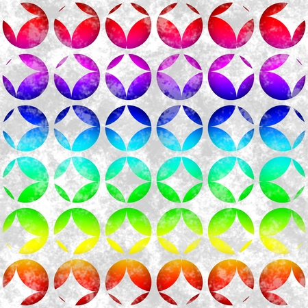 tileable background: Seamless pattern with colored circles. Tileable background Stock Photo
