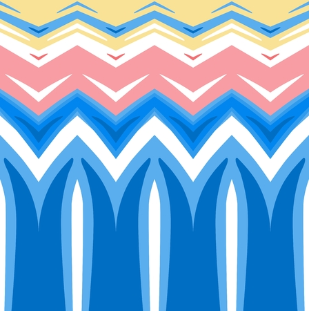 classic contrast: Abstract colored background. Horizontally seamless pattern in yellow, pink and blue spectrum Illustration