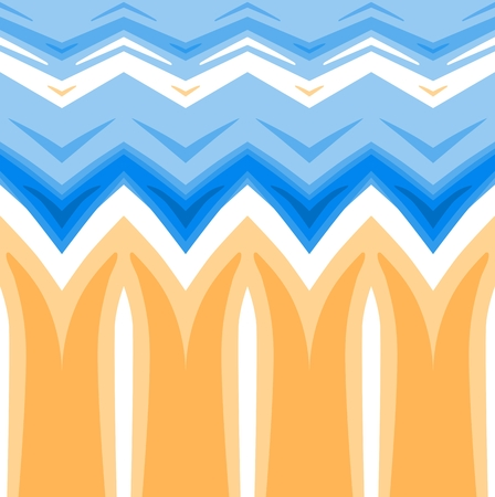 horizontally: Abstract pastel colored background. Horizontally seamless pattern in yellow and blue spectrum