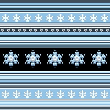 boyish: Winter seamless pattern - striped with snowflake motif in blue spectrum