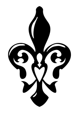 kingly: Fleur de Lis symbol. Isolated on white background