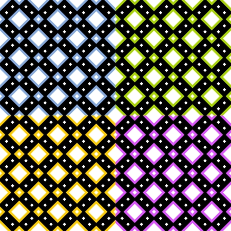 variation: Squared tile pattern or background in four colored variation