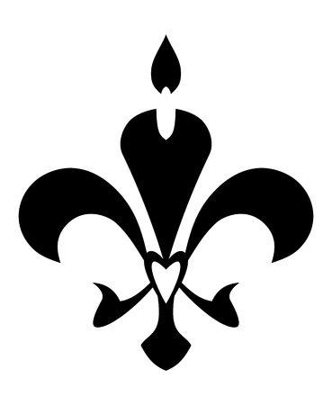 symbol fleur de lis: Fleur de Lis symbol. Isolated on white background