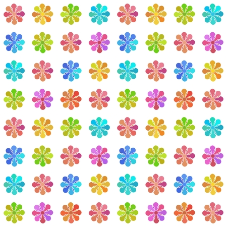 pastel colored: Seamless pattern with pastel colored flowers on white background