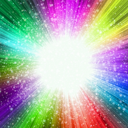 vibrant colors: Abstract star-burst background in vibrant colors