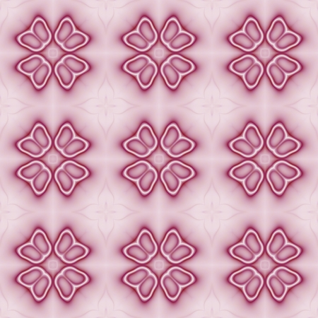 tileable: Seamless floral decorated pattern in red color