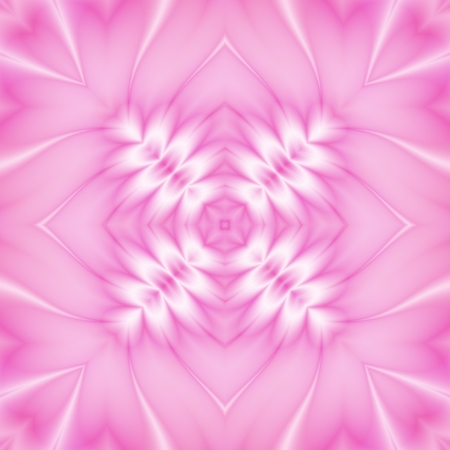 iteration: Seamless kaleidoscopic decorated pattern in pink color Stock Photo