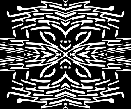 monochromatic: Abstract seamless black and white pattern. Monochromatic background