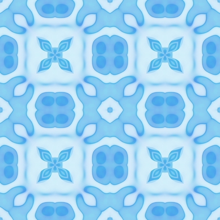 iteration: Seamless decorated pattern in blue color