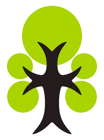 treetop: Green tree icon isolated