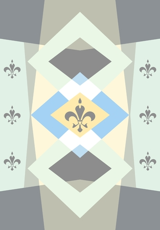 pastel colored: Pastel colored background with fleur de lis. Polygonal wallpaper