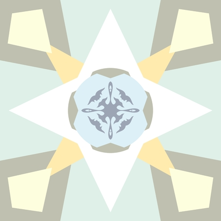 harmonize: Pastel colored background with abstract ornament. Seamless pattern