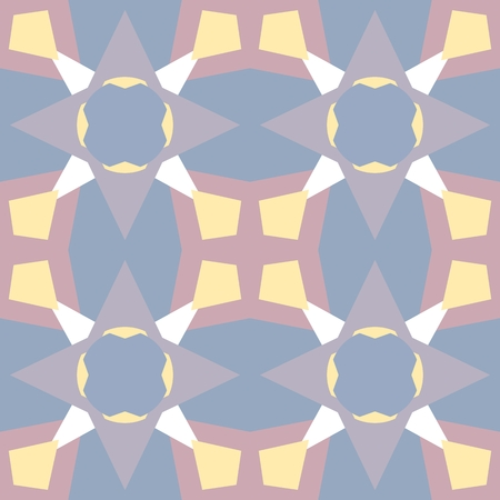 Pastel colored seamless pattern. Polygonal background Illustration