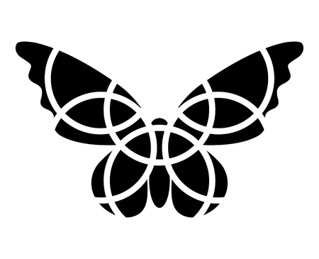 butterfly isolated: Butterfly icon. Mosaic butterfly clipart. Monochromatic. Isolated. Fragmented. Butterfly.