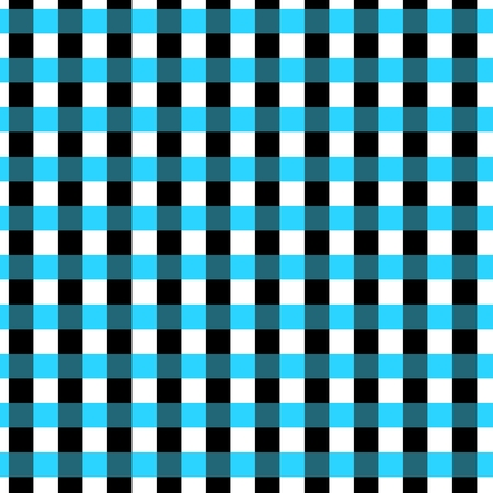 gingham pattern: Seamless geometric gingham pattern. Abstract background. Blue, black and white stripes. Chequered pattern in swatch