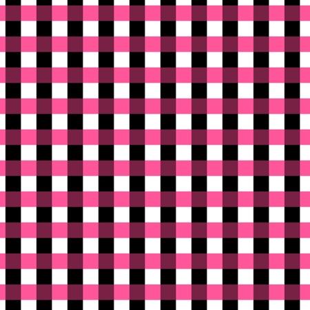 gingham pattern: Seamless gingham pattern. Geometric background. Black, pink and white stripes. Tartan pattern in swatch