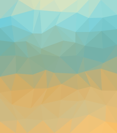 ocher: Polygonal background consist of triangles. Triangular design. Origami style. Mosaic. Crumpled triangle shaped wallpaper. Can be used as cover design, book design and website background. In blue and ocher colors. Illustration