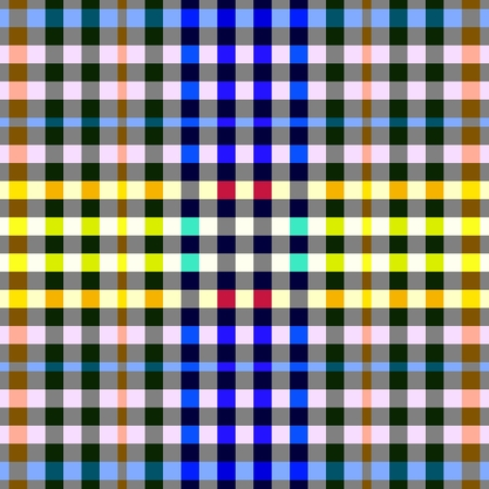 gingham pattern: Colorful checkered seamless background. Gingham pattern. Chequered tileable pattern Illustration
