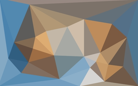 greyish: Multicolored blue and brown low poly style background. Polygonal design for your business
