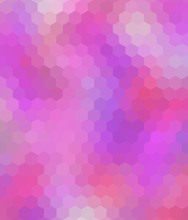 hexagonal shaped: Colored polygonal background consist of hexagons. For your design. Mosaic. Hexagonal shaped wallpaper. Can be used as cover design, book design and website background. In purple and violet colors