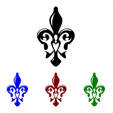 remake: Fleur de lis symbol. French lily icons isolated on a white background Illustration