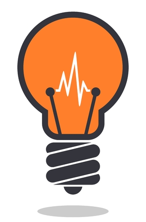 Light bulb icon. Isolated on white background. Lamp icon