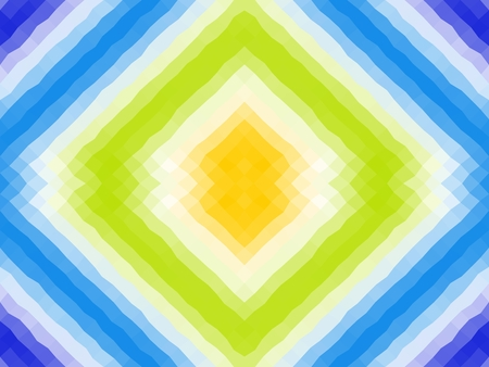 Polygonal mosaic with bright color ornament. Seamless pattern. Blue, yellow, white, green colors