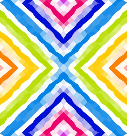 delta: Seamless geometric pattern. Colorful polygonal mosaic background. Wallpaper. Blue, yellow, white, green colors Illustration