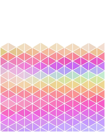 deltoid: Pastel colored polygonal illustration consist of triangles with copy space for your text Illustration