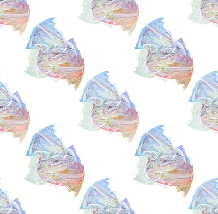 흰색 배경 위에 여러 가지 빛깔 된 원활한 패턴