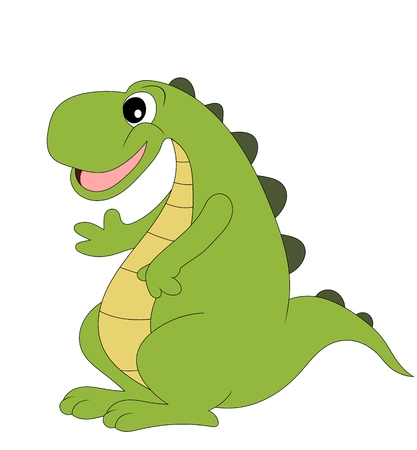 Cute cartoon dinosaur isolated on white background Illustration
